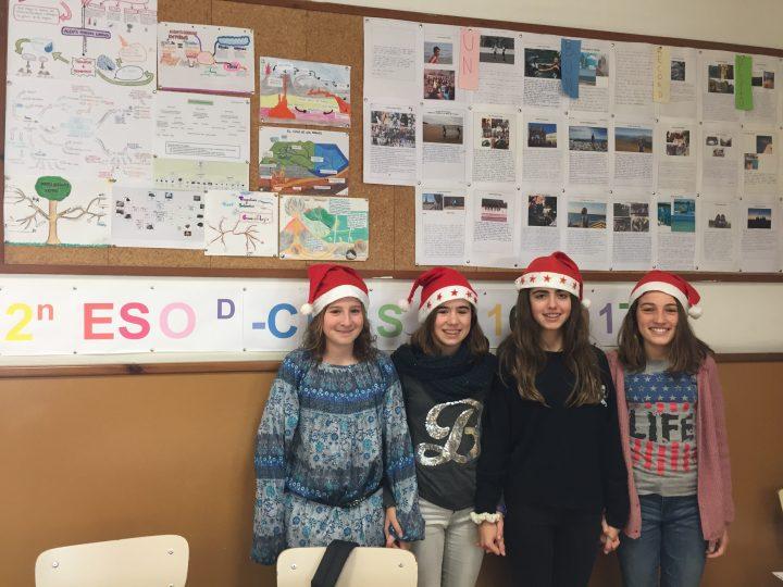 En cours de français nous avons chanté des chansons de Noël