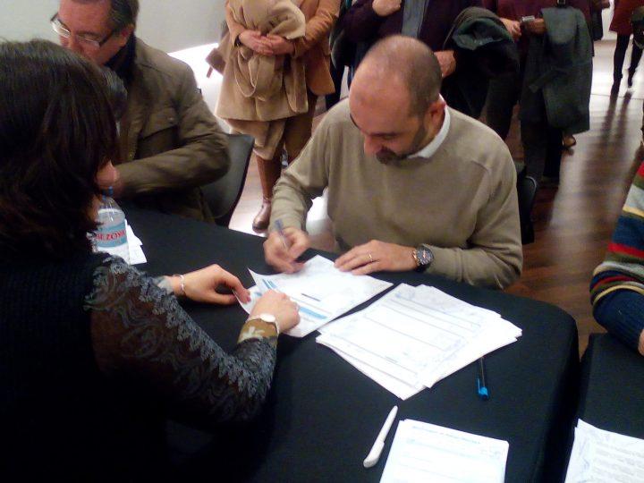 """Signatura del conveni amb """"l'Obra Social la Caixa"""""""