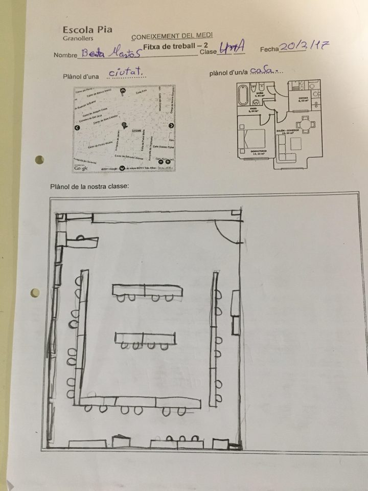 Dibuixem el plànol de la classe a escala