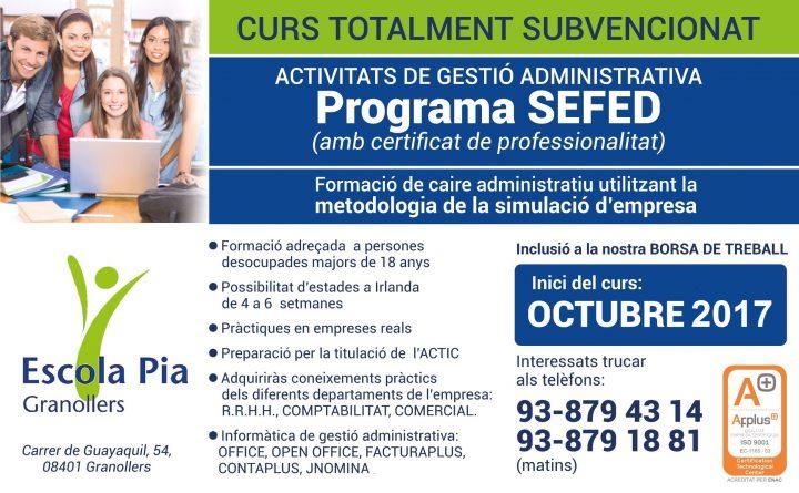 Inici d'un nou curs del Programa SEFED