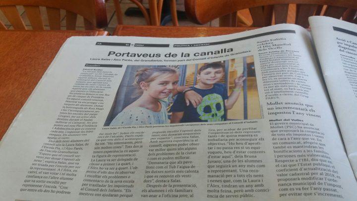 NOVA REPRESENTANT DE L'ESCOLA AL CONSELL DELS INFANTS DE GRANOLLERS