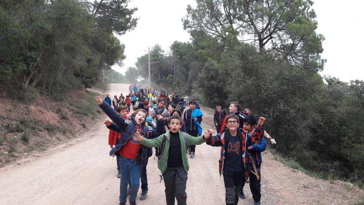 Els de 4t d'excursió al Puiggraciós