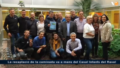 Lliurament de la recaptació solidària de la XXVa caminada a Montserrat al Casal dels Infants del Raval