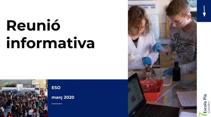 Reunió informativa ESO març 2020